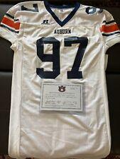 2003-05 Auburn Football 2Xl White Game Used Jersey #97 W Fanatics / Au Coa