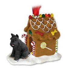 SCHNAUZER Black Dog Ginger Bread House Christmas ORNAMENT