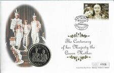 Isle of Man 2000 Mercury LE Queen Mother Centenary Coin FDC.IOM Coin