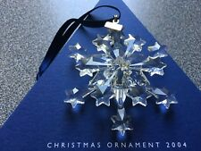 Swarovski 2004 Christmas/X-mas Ornament/Snowflake, Complete & Perfect !!!
