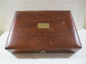 vintage NAKEN Wood Silverware Flatware Storage Chest Box Case Anti-Tarnish