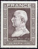 "FRANCE STAMP TIMBRE N° 606 "" MARECHAL PETAIN 1F50+3F50 "" NEUF xx TTB"