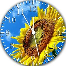 """Sun Flower wall Clock 10"""" will be nice Gift and Room wall Decor Z175"""