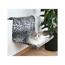 Trixie Lounging Hammock Radiator Snow Leopard Pattern Warm Cosy Bed House Rest