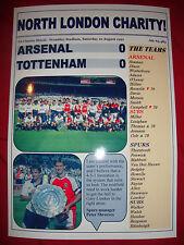 Arsenal 0 Tottenham Hotspur 0 - 1991 Charity Shield - souvenir print