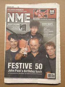 JOHN PEEL/DAVID GEDGE/IAN MCCULLOCH NME MAGAZINE SEPT 9 1989 - JOHN PEEL 'S FEST