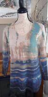 J jill Pull Over Multi Colored Sweater Small