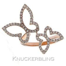Diamond Butterfly Ring 0.50ct Brilliant Cut F VS set in 18ct Rose Gold