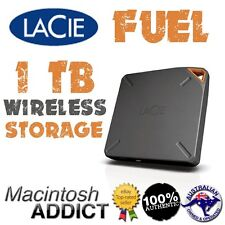 LaCie FUEL 1TB Portable Wireless Storage Drive for iPad iPhone Mac AirPlay Share