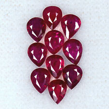 3.63 Cts Natural Top Blood Red Ruby Loose Gemstone Pear Cut Lot  5 x 4 mm burma