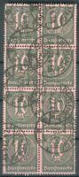 Deutsches Reich Dienstmarken 8er Block der Mi.-Nr.68 o (MICHEL € 16,00)