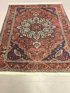 antico-swiss Beautiful Antique indoBAKHTIARI rug  5`4 x 7` ft