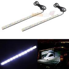 2x 12SMD White LED Car Strip Light for DIY Dome Interior Exterior Trunk Lighting