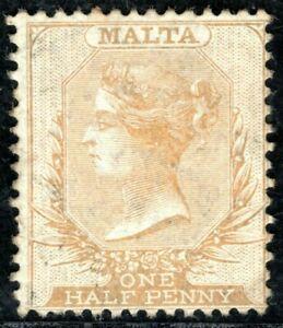 MALTA QV Classic Halfpenny Stamp SG.4 ½d Buff (1863) Used XFU Cat £75+ BLBLUE72