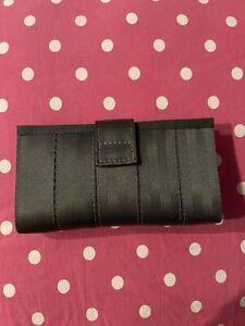 HARVEYS seatbelt gray silver credit card money wallet wristlet