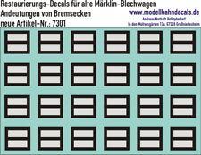 00-Restaurierungs-Decals - Bremsecken für Märklin-Güterwagen 087-7301 Top Neu!