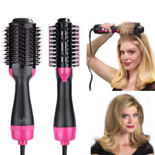 Professional One-Step Hair Dryer and Volumizer Oval Hot Air Brush Ionic Curler