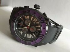 AQUASWISS Chronograph SWISSport Swiss mens Watch black purple 50mm New
