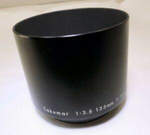 Pentax 49mm Asahi Takumar 135m f3.5 200mm f5.6 Metal Lens Hood Shade Telephoto