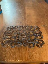 Cast Iron Antique Filigree Soap Dish Brown