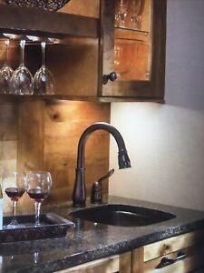 Delta 9978-RB-DST Venetian Bronze Leland Single Handle Bar/Prep Faucet K 43