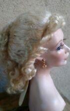 Doll Wig, Sapphire 10-11'' ash Blonde 100% mohair. Curls cascade & tendrils