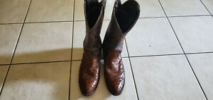 Larry Mahan Ostrich Boots Tobacco Color