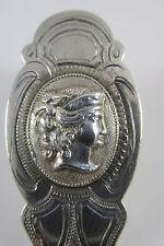 Antique Coin Silver Medallion Flatware Classical Lady Female Portrait Pie Server