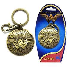New Wonder Woman Shield Pewter Key Ring Key Chain Wonder Woman Movie