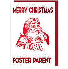 Pretty Sparkling Effect Christmas Card For Foster Parents