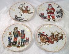 4 Williams Sonoma Twas The Night Before Christmas Dinner Plates Nutcracker Santa