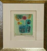 Shoichi Hasegawa: Des fleurs. Composition. Signierte Original-Farbradierung.