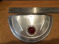 Harley Knucklehead Panhead Glass Jeweled Headlight Visor Vintage Stainless Steel