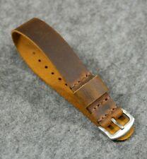 Leather NATO Watch Strap G10 band Zulu Strap Handmade fit Omega watch strap gift