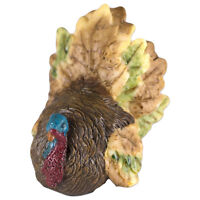 "Miniature Thanksgiving Turkey Figurine 2.25"" High Resin New in Box"