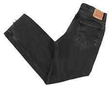 Levis Jeans 550 Black 34x32 Relaxed Fit Tapered Leg Cotton Denim Zipper Fly Mens