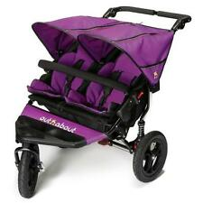 Out n About Nipper Double V4 Purple Pushchairs Double Seat Stroller