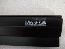 """Hang-A-Plan 30""""-36"""" Quickfile Hanging Clamp D202B , Black, Holds up to 150 plans"""