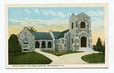 Pre 1930 Unused Post Card Manchester New Hampshire NH Ursula Chapel Cemetery