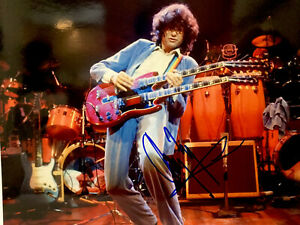 Jimmy Page Led Zeppelin color 8 x 10 photos signed autographed with COA mint