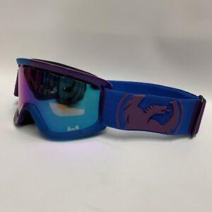 Dragon Lil D Kids Youth Winter Snow Ski Goggles Purple Blue
