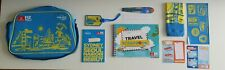 Emirates Fly With Me/Lonely Planet Kids Flight Shoulder Bag in Blue & Yellow