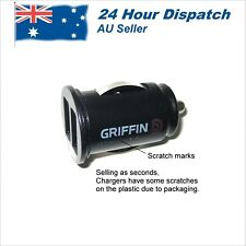 Compact 2 Port Griffin 12 volt  Mobile Phone Car Charger Adapter Lighter to USB