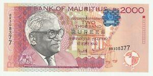 Mauritius 1999 2000 Rupees P.55 ( UNC- ) Rare