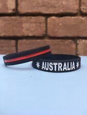 Australia, Silicone Bracelet, Wristband, Red, Basketball, Sports, Custom.
