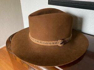 Game Worn Team Issue LOU HOLTZ 1988 Cotton Bowl NOTRE DAME Resistol Hat Cowboy