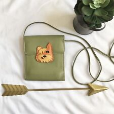 JP Ourse & CIE Small Green Bag Crossbody Dog Puppy Wallet Purse Leather
