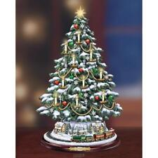 The Thomas Kinkade Village Candlelit Tabletop LED Lights Christmas Tree