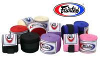 Fairtex Elastic Cotton Handwraps Hand wraps Black Red White Muay Thai HW2 MMA