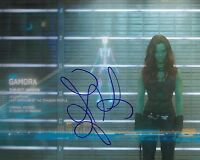 Zoe Saldana Signed 10X8 Photo GUARDIANS OF THE GALAXY AFTAL COA (7371)